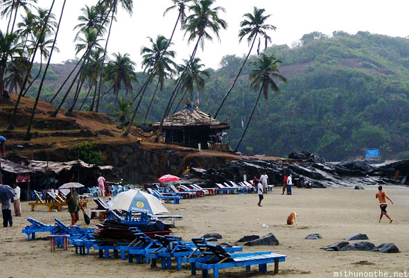 Ozran Small Vagator beach raining Goa