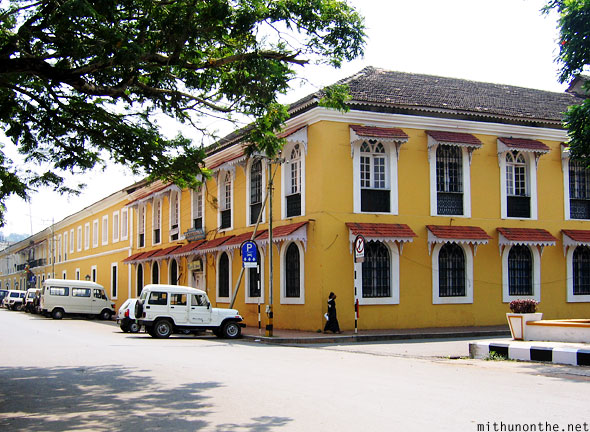 Panjim yellow old building Goa