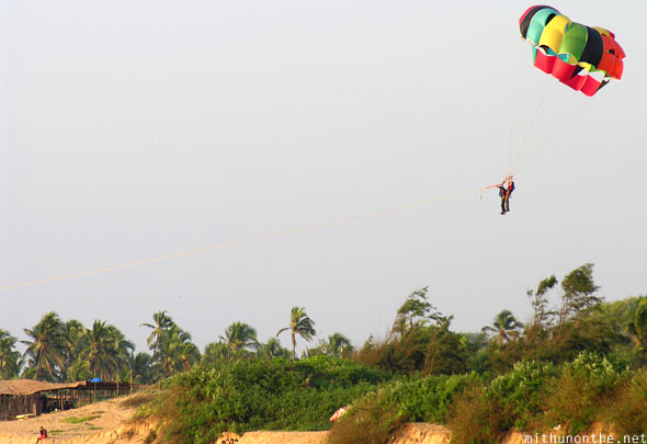 Paragliding in Goa Sinquerim beach India