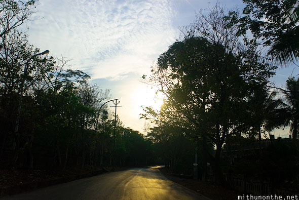 Road to Goa sunset