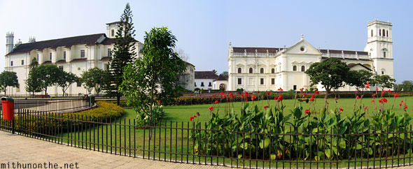 Se Cathedral Goa panorama