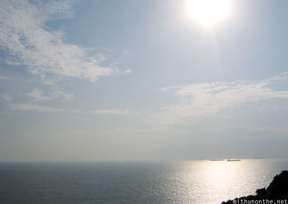 Sea view sunshine Fort Aguada Goa India