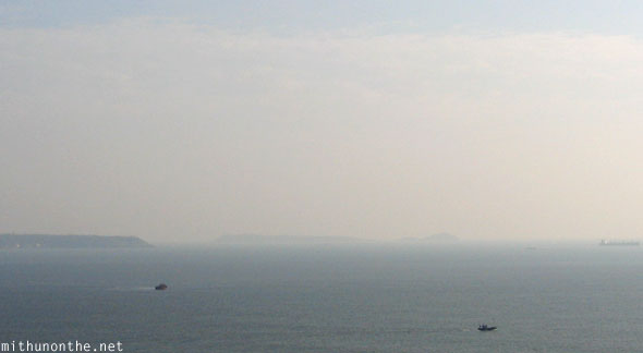 Ships in the distance Arabian Sea Goa India