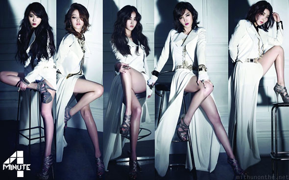 4minute members legs Volume Up Korean pop