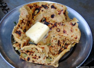 Parantha and butter