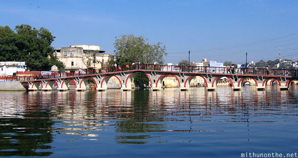 Bridge over Lake Pichola Udaipur Rajasthan
