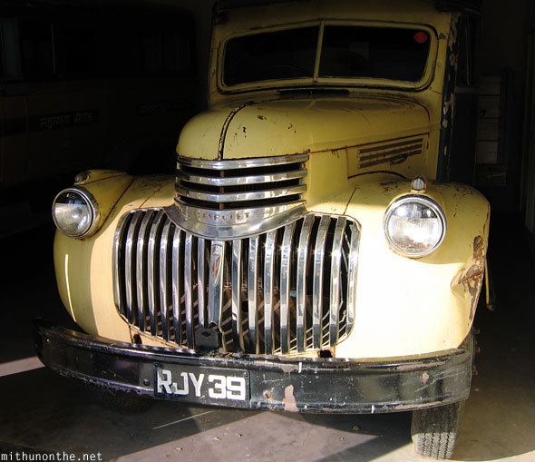 Chevrolet vintage classic car museum Udaipur Rajasthan