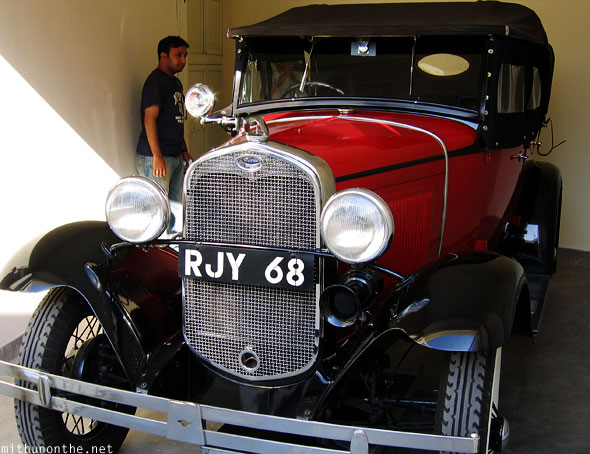 Classic Ford vintage car museum Udaipur Rajasthan