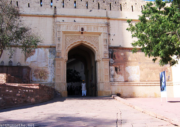 Entrance to Jodhpur palace Rajasthan