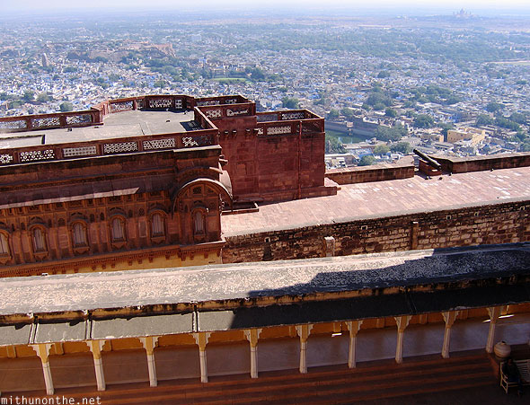 Higher view Mehrangarh Fort Jodhpur Rajasthan