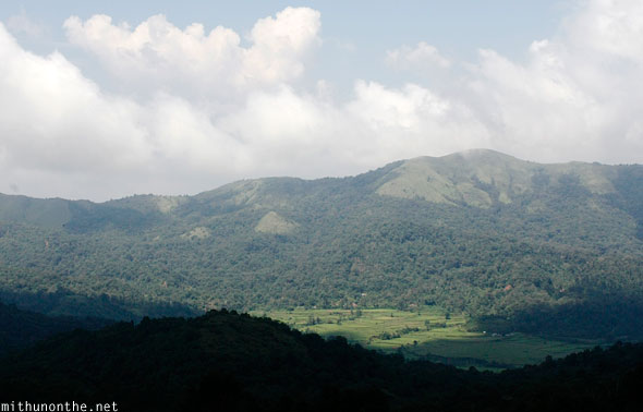 Talakaveri view of hills in Coorg