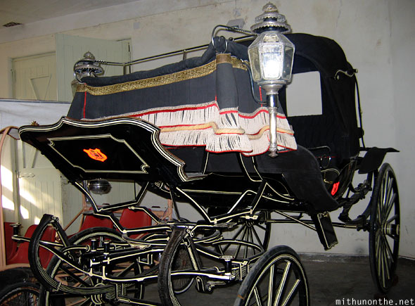 Horse-drawn chariot cart Udaipur royal garage Rajasthan