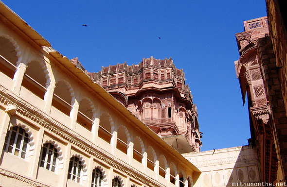 Inside Mehrangarh fort Jodhpur Rajasthan India