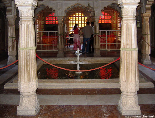 Inside Udaipur palace fountain Rajasthan