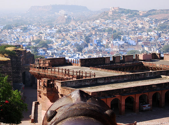 Jodhpur palace cannon blue city