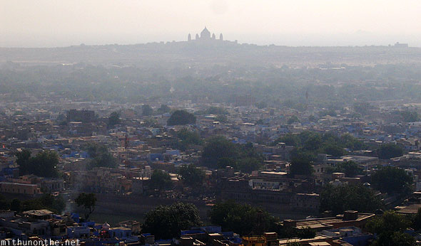 Jodhpur palace silhouette in distance