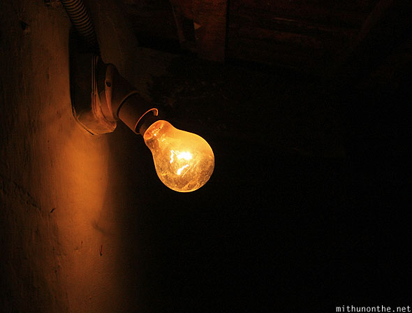 Light bulb at night Coorg
