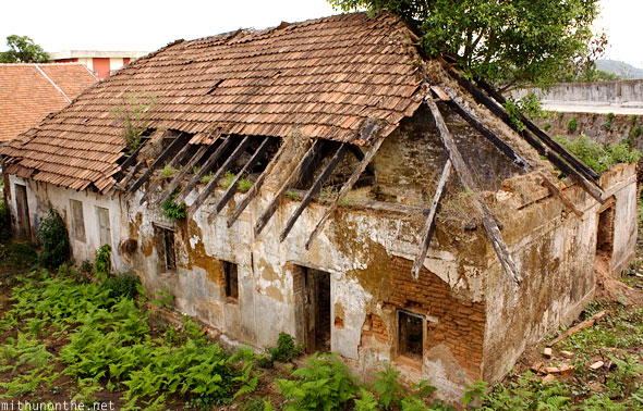 Madikeri Fort olden damaged building Coorg