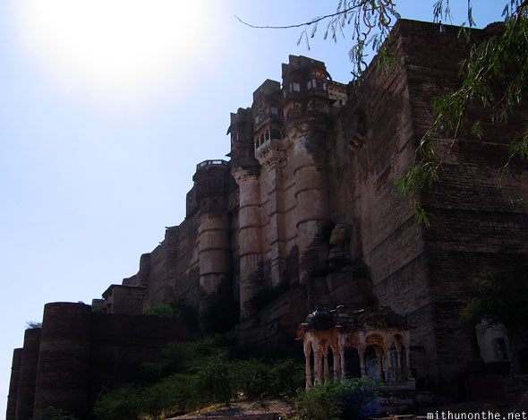 Mehrangarh fort from ground level Jodhpur