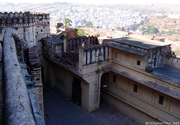 Mehrangarh Fort higher view Jodhpur Rajasthan