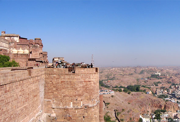 Mehrangarh fort wall Jodhpur Rajasthan India