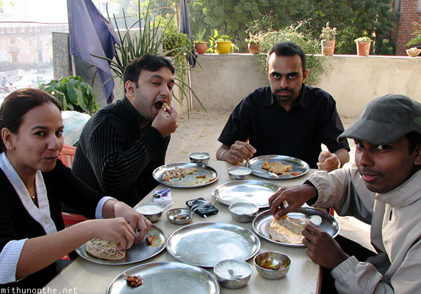 Mithun friends breakfast in Jodhpur