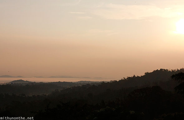 Morning sunrise Thadiyandamol Coorg