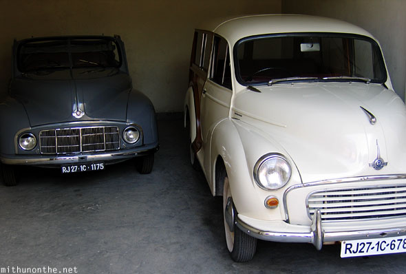 Morris Tiger 1000 Udaipur classic car garage India
