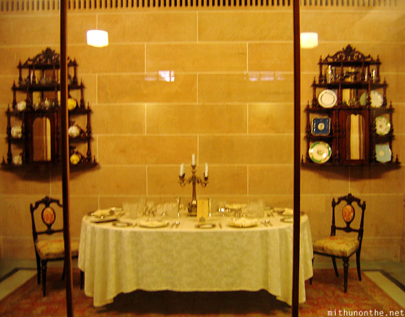 Old dining room Umaid Bhavan palace Jodhpur Rajasthan