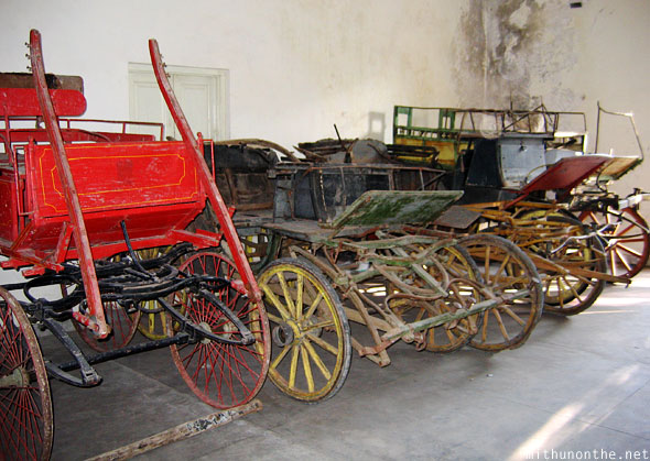 Old horse drawn carriage Udaipur royal garage