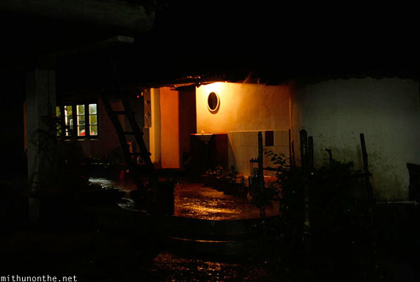 Palace Estate homestay Coorg at night
