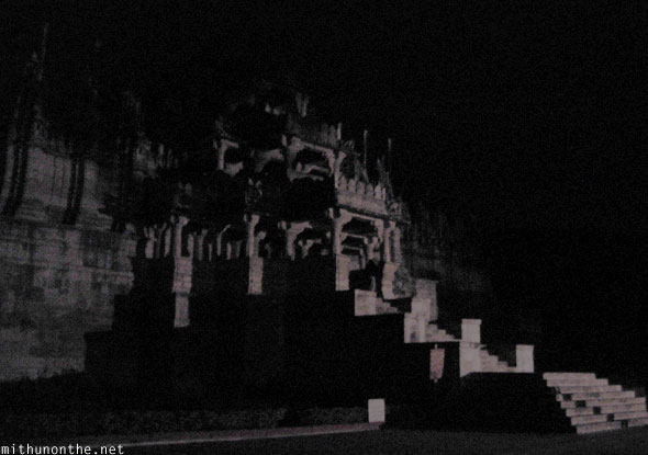 Jain Temple Ranakpur temple at night