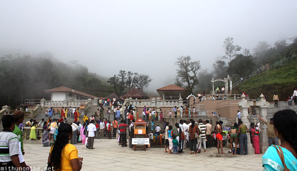 Talakaveri temple crowd Coorg