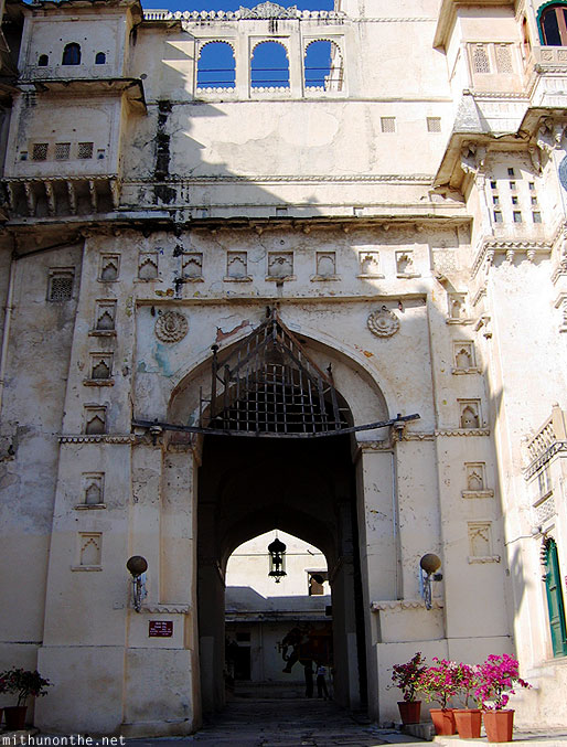 Udaipur city palace entrance Rajasthan