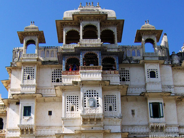 Udaipur city palace tower Rajasthan India
