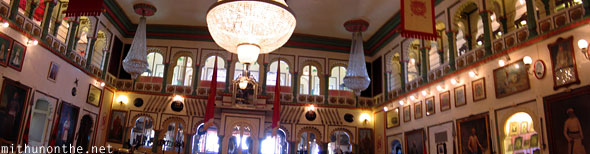 Udaipur palace darbar hall panorama