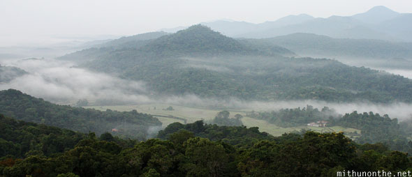View from hilltop Coorg