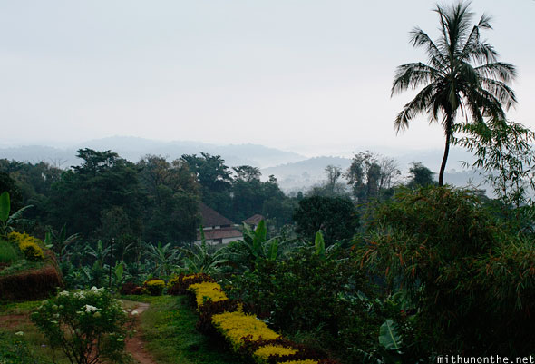 View from Palace Estate balcony Coorg India