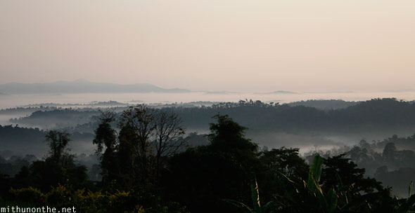Morning view from Thadiyandamol Coorg