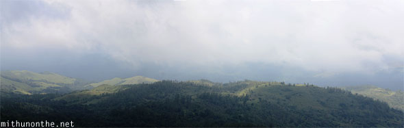 View of hills panorama