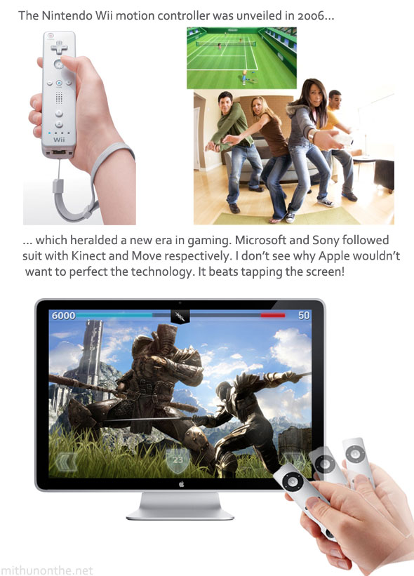 Wii remote Apple TV example