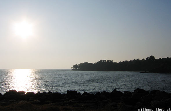 Arabian sea from Kannur fort India