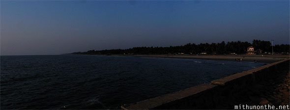 Beypore beach evening panorama