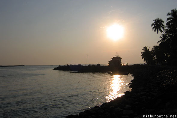 Beypore house beach evening sunset