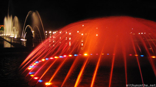 Brindavan gardens fountain light show