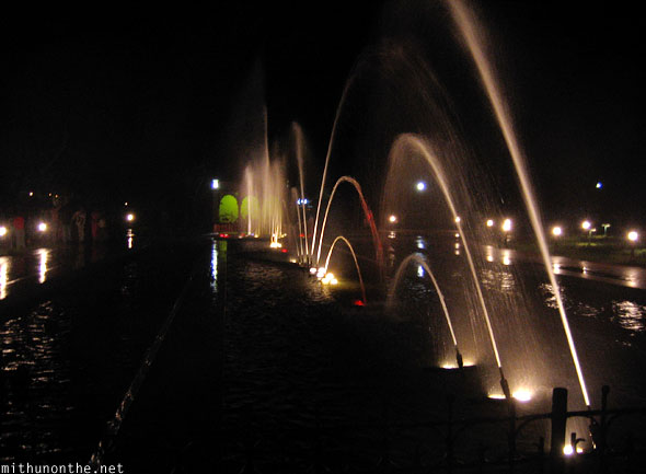 Brindavan gardens fountains light Mysore
