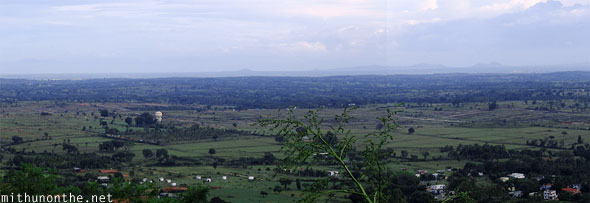 Chamundi hills panoramic view