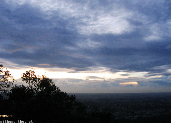 Evening sky from Chamundi hills Mysore