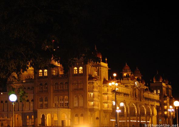 Mysore palace at night Karnataka