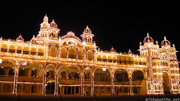 Mysore Palace Dussera lights Karnataka India
